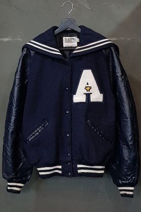 90's De Long - Varsity Cheerleader - Qulited Lined - Made in U.S.A. (L)